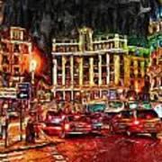 Madrid City Art Print