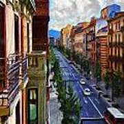 Madrid Morning Art Print