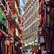 Madrid Narrow Street Art Print