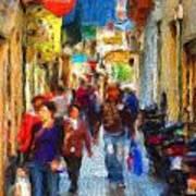 Madrid Shopping Spree Art Print