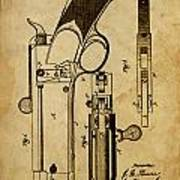 Magazine Fire-arm - Patented On 1877 Art Print