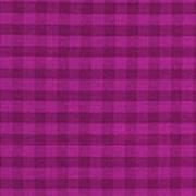 Magenta Checkered Pattern Cloth Background Art Print