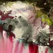 Magenta Cliffs Art Print by Carole Johnson