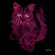 Magenta Feral Cat - 9905 F Art Print
