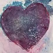 Magenta Heart Art Print