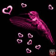 Magenta Hummingbird - 2055 F Art Print