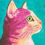 Magenta Kitty Art Print