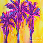 Magenta Palm Trees Art Print