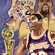 Magic Johnson Art Print by Israel Torres