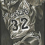 Magic Johnson - Legends Series Print by David Courson