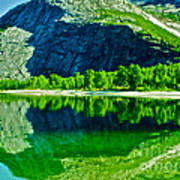 Magic Kobvatnet Norway. Time To Remember. Art Print