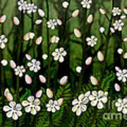 Magical Blooms Of The Deep Forest Art Print