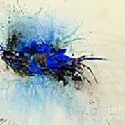 Magical Blue-abstract Art Print by Ismeta Gruenwald