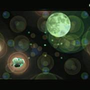 Magical Moonlight Clover Art Print