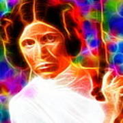 Magical Princess Leia Art Print