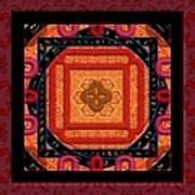 Magical Rune Mandala Art Print