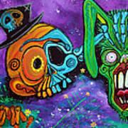 Magician De Los Muertos Art Print