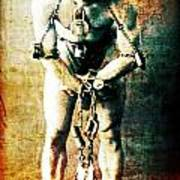 Magician Harry Houdini In Chains   Art Print by Jennifer Rondinelli Reilly - Fine Art Photography