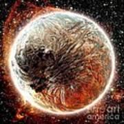 Magma Planet Art Print by Bernard MICHEL