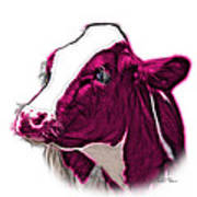 Magneta Cow Holstein - 0034 Fs Art Print