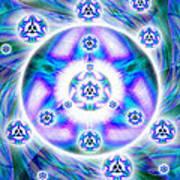 Magnetic Fluid Harmony Banner Art Print