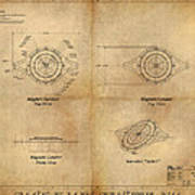 Magneto System Blueprint Art Print