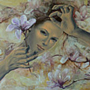 Magnolias Art Print by Dorina  Costras