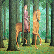 Magritte's The Blank Signature Art Print