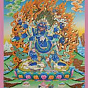 Mahankal Thangka Art Art Print
