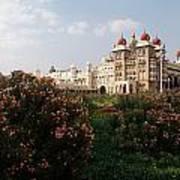 Maharaja's Palace And Garden India Mysore Art Print