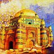 Mai Jwandi Tomb On Makli Hill Art Print by Catf