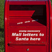 Mail Letters To Santa Here Art Print