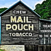 Mail Pouch Chew Art Print