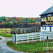 Mail Pouch Tobacco Barn In The Fall Art Print
