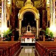 Main Altar Of Basilica Art Print