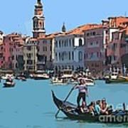 Main Canal Venice Italy Art Print
