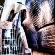Main Entrance Of Guggenheim Bilbao Museum In The Basque Country Fractal Art Print