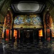 Main Lobby Of City Hall Buffalo Ny Rear Art Print