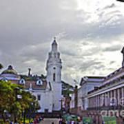 Main Square In Quito Ecuador Art Print