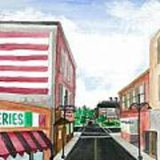 Main St. Is White-washed Windows And Vacant Stores Art Print
