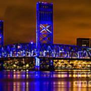 Main Street Bridge Jacksonville Florida Art Print