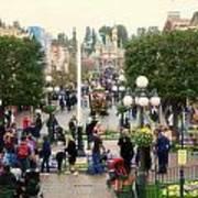 Main Street Disneyland 02 Art Print