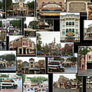 Main Street Disneyland Collage 02 Art Print