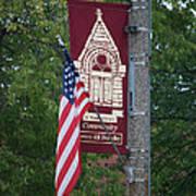 Main Street Flags Dwight Il Art Print
