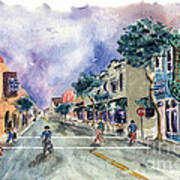 Main Street Half Moon Bay Art Print by Diane Thornton