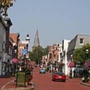 Main Street In Downtown Annapolis Art Print