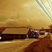 Main Street In Mountain Village Art Print