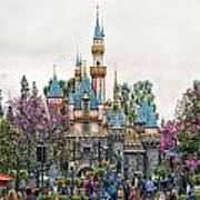 Main Street Sleeping Beauty Castle Disneyland 01 Art Print