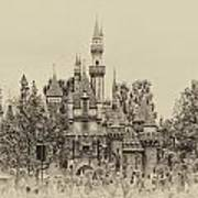 Main Street Sleeping Beauty Castle Disneyland Heirloom 01 Art Print