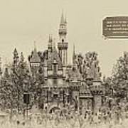 Main Street Sleeping Beauty Castle Disneyland Heirloom 03 Art Print